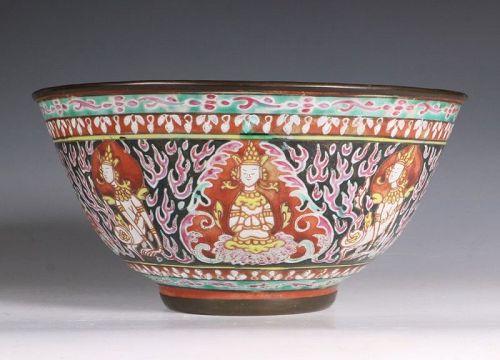 Thai Market Chinese Benjarong Bowl 18/19thC