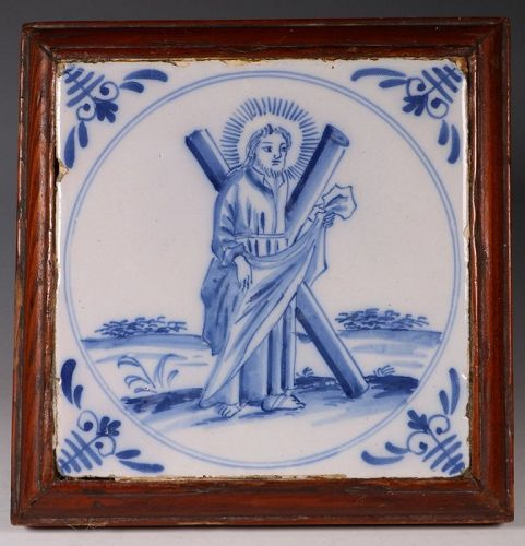An English delft Tile 18thC