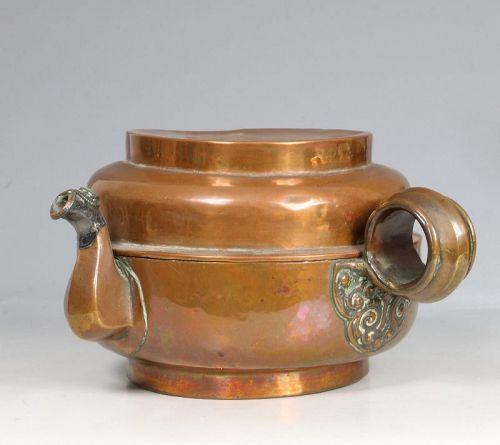 A Tibetan Copper Tea Pot 18/19thC