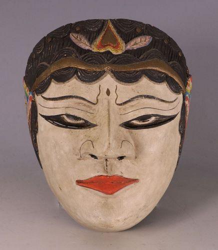 A Javanese Mask of Rumyang Mid 20thC