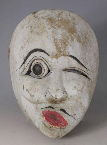 A Javanese Dance Mask Mid 20thC