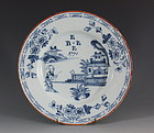 Rare English Delft Plate Dated 1771