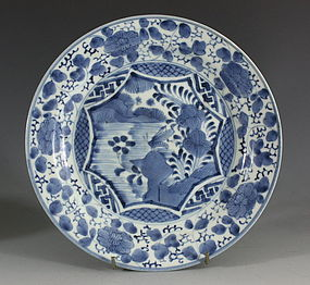 Japanese Arita Blue and White Plate L17thC