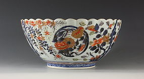 Fine Japanese Arita Imari Polychrome Bowl C1700