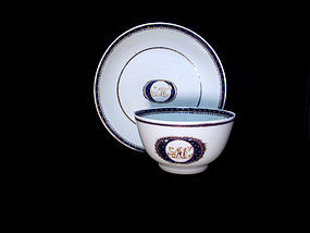 Late 18th century American Market Export Cup and Saucer