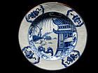 Chinese 18th C. Kangxi / Yongzheng Blue & White Plate