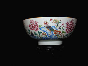 18TH C. QIANLONG PERIOD EXPORT FAMILLE ROSE PUNCHBOWL