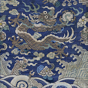 19TH C IMPERIAL JIAQING DAOGUANG KESI WALL HANGING