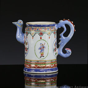 18th C Qianlong Famille Rose European Market Coffee Pot