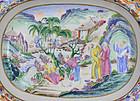 Jiaqing Famille Rose Canton Enameled Platter Dish