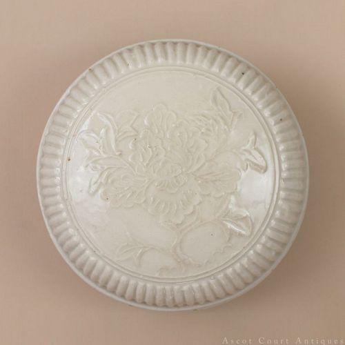 16TH 17TH C MING DEHUA BLANC DE CHINE WHITE GLAZED PORCELAIN BOX