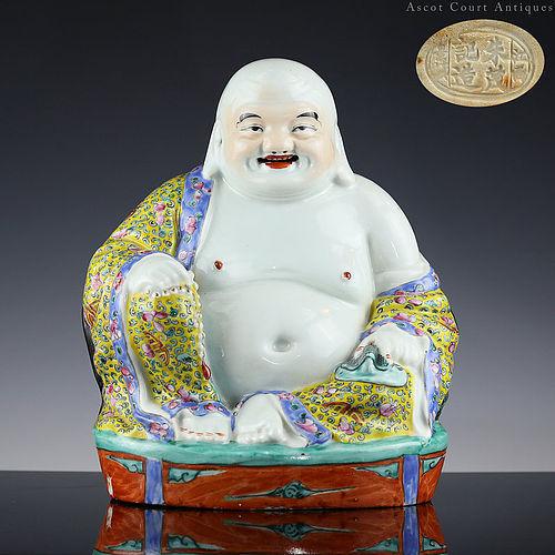 c. 1900s Late Qing Republic Figure of Buddha 'Milefu'
