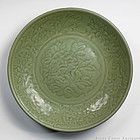 c. 1400 Early Ming Longquan Celadon Charger