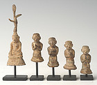 19th Century, A Set of Burmese Lead Buddha and Disciple