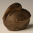 A Silver Box in the Form of Bird