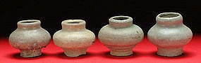 Miniature Sukhothai Celadon Glaze Jarlets