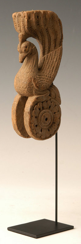 19th C., Mandalay, Burmese Weaving Tool in The Form of Bird