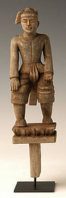 Early 20th Century, Burmese Wooden Figure