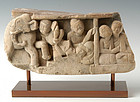 16th C., Burmese Sandstone of Human and Elephant