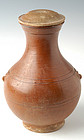 Han Dynasty, Chinese Pottery Vase with Amber Color