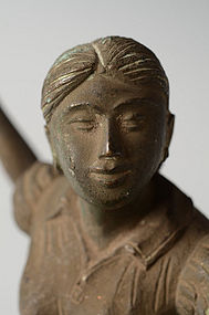 Burmese Bronze Figure of Athletic