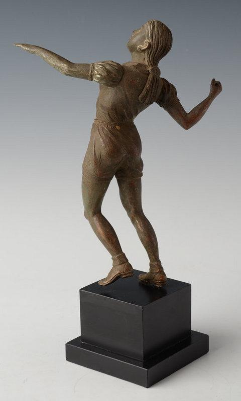 Burmese Bronze Figure of Athletic