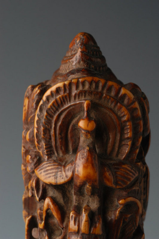 18th Century, Burmese Ivory Knife Handle