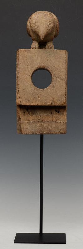 19th C., Burmese Wooden Owl