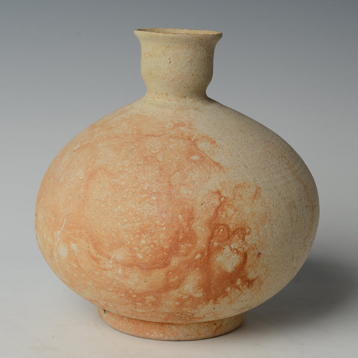 14th-16th C., Sukhothai Pottery Bottle Vase