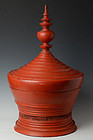 Large Burmese Wooden Lacqueredware