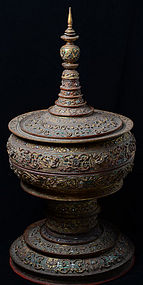 19th C., Large Burmese Lacquered Vessel