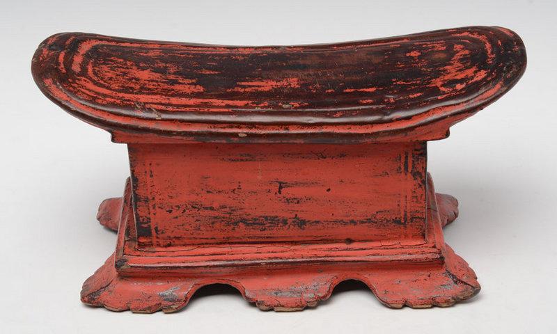 19th Century, Mandalay, Burmese Wooden Pillow