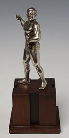 20th Century, Burmese Bronze Standing Bodybuilder