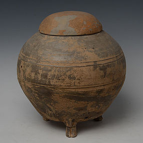 Han Dynasty, Chinese Pottery Globular