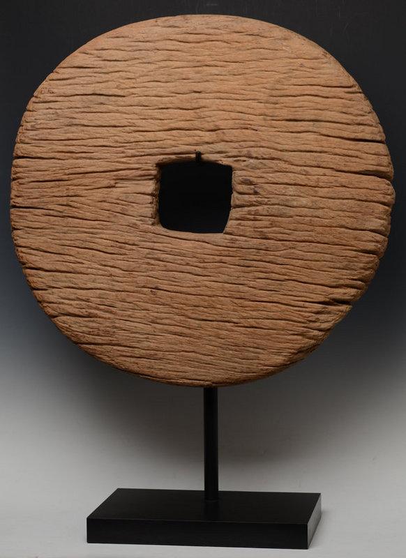 19th C., Thai Wooden Wheel