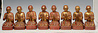 19th Century, A Group of Burmese Wooden Seated Disciples