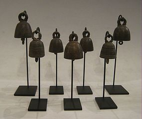 19th Century, A Set of Burmese Bronze Miniature Bells