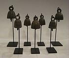 19th Century, A Set of Burmese Bronze Miniature Bells