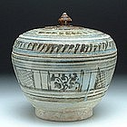 An Underglaze Black Sukhothai Covered Bowl