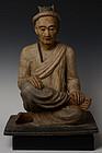 Early 19th Century, Rare Burmese Bronze Seated Rishi