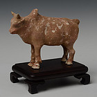 Tang Chinese Pottery Standing Ox