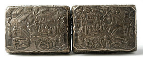 A Pair of Chinese Silver Boxes