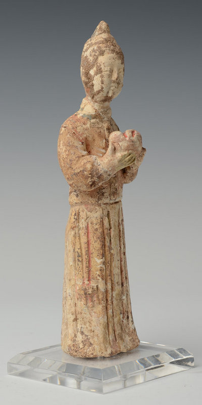 Jin Dynasty, Chinese Pottery Female Figure