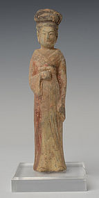 Northern Qi Dynasty, Chinese Pottery Female Figure