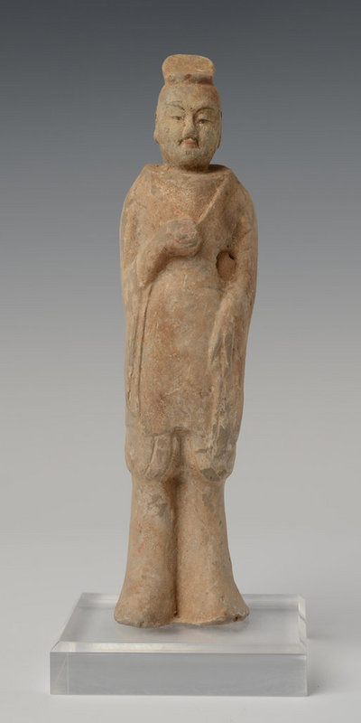 Northern Qi Dynasty, Chinese Pottery Figure of Courtman
