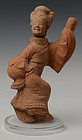Han Dynasty, Chinese Pottery Figure of Dancer