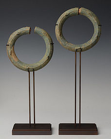 500 B.C., A Pair of Dong Son Bronze Bracelets