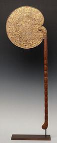 Burmese Bamboo Fan Gilded Gold