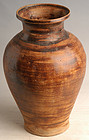 14th - 16th Century, Sankampaeng Thai Pottery Brown Glazed Jar