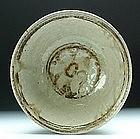 Sukhothai iron black underglaze bowl
